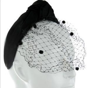 Eugenia Kim Velvet Knot Headband with Veil